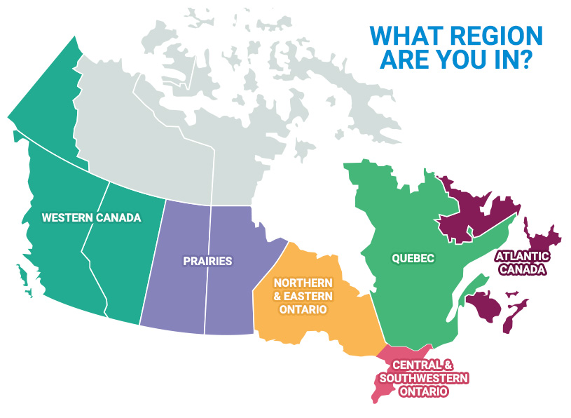 how to draw a northern canadian map